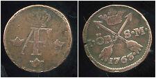 NORVEGE  1 ore 1763    ( piece  trés légérement tordue )