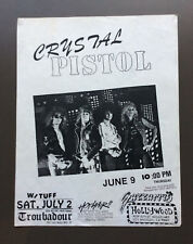 CRYSTAL PISTOL Vintage Flyer Ad For The Gazzarri's Show 1980's L.A. Glam Rock
