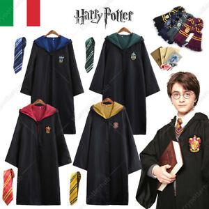 Mantello Harry Potter Cosplay Costumi Sciarpa Cravatta Bacchetta magica Unisex