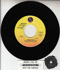 """MADONNA  Dress You Up & Into The Groove 7"""" 45 record NEW + juke box title strip"""