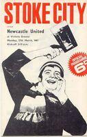 Stoke City v Newcastle United 1966/7