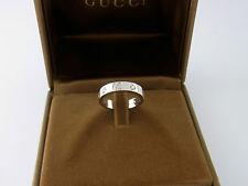 Original Gucci Icon Ring 18 kt Weißgold mit 5 Diamanten 0.22 ct Gr. 49 in Box