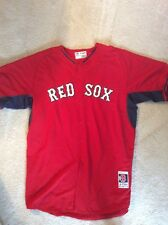 Authentic Game Worn 2014 Boston Red Sox Road Batting Practice Jersey size 52