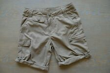 Girls Youth Shorts REI Beige Pockets Roll Up Nylon Hiking Outdoors Size SMALL 8