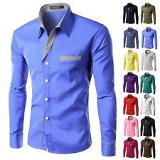 Hombre Formal Negocios Camisas Entallado Vestido Manga Larga Camisas Tops