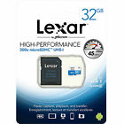 Lexar 32GB Micro SD SDHC MicroSD Class 10 32G 32 GB High-Performance 300x 45MB/s