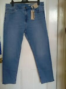 Marks and Spencer Mid Rise Straight Denim Trousers size 20 Regular new