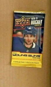 2020-21 Upper Deck Series 2. Unopened Hockey card pack. 4 Card pack.