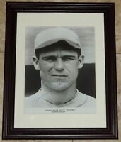 BEAUTIFUL! George Sisler Signed Autographed Framed Baseball Photo JSA AH LOA!