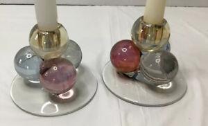 Irredecendent pair candle holders - unique -