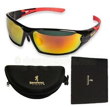 Browning Red Heat Sunglasses for Fishing in Case - Anglers Gift - 1st Class Post