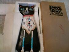 Allen Designs Tux Cat Pendulum Wall Clock New/Boxed P1162 Great gift idea!