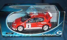 1:18 Peugeot 206 WRC 2003 - Burns - rot - Solido - NEU in ungeöffneter OVP