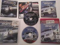Need for Speed Lot Shift 1 2 Unleashed  Limited Edition (PS3) N4S Complete Race