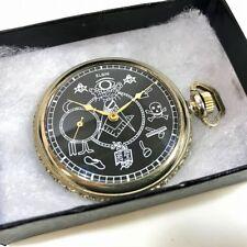 Rare ELGIN Antique 1923 Hand Winding Freemason Masonic Pocket Watch EMS Shipping