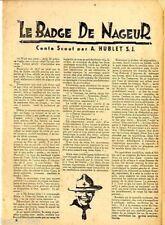 PETIT VINGTIèME  1931  n°   32  SCOUTISME : LE BADGE DE NAGEUR  ILL. HERGé  BE