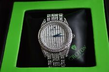 CROTON MEN'S CN307543RHPV STAINLESS STEEL SILVERTONE AUSTRIAN CRYSTAL WATCH!!!