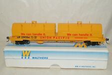 HO scale Walthers Union Pacific RR steel cushion coil flat car train