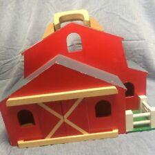 Melissa & Doug Fold & Go Wood Barn Only Durable Children's Play Set