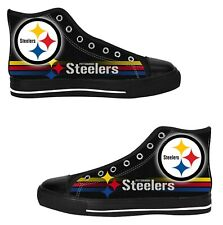 Pittsburgh Steelers Mens Custom Sneakers High Top Canvas Casual Shoes