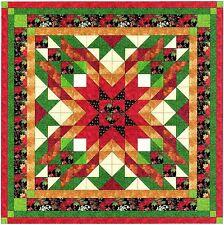 Ezy Quilt Kit/Christmas Star/Pre-cut Fabrics Ready To Sew/KING****