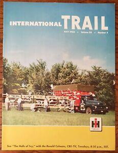 INTERNATIONAL HARVESTER TRAIL MAGAZINE MAY 1955 PICKUP TRUCK HEAVY DUTY DEALER