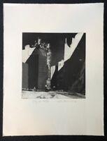 Wolfgang Werkmeister, City bei Nacht I, Radierung, 1979, signiert und datiert