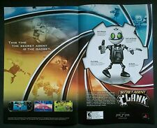 Sony PSP SECRET AGENT CLANK video game two-page print ad