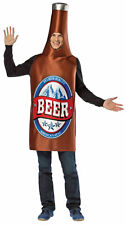 Beer Bottle Drinking Party Adult Costume Body Length Tunic Halloween Dress