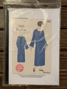 Vintage 1920's Day Dress Sewing Pattern Reproduction