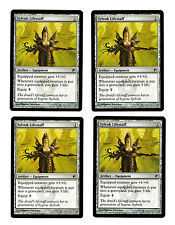 4x Sylvok Lifestaff EX Scars of Mirrodin Mtg Magic Commander EDH 4x x4