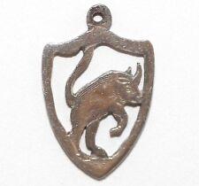 Vintage Taurus The Bull Zodiac Sterling Silver Bracelet Charm (1.2g)