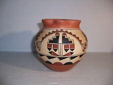 P.R. Tosa Jemez Native American Pueblo Pottery Jar Olla Pot Vase