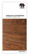 Caparol Capadur Farbtonkarte - Holzlasurfarbtöne original auf Furnierholz -