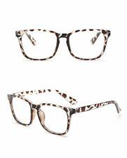 Mens Womens Clear Lens Square Frame Vintage Retro Fashion Geek Glasses UK Stock