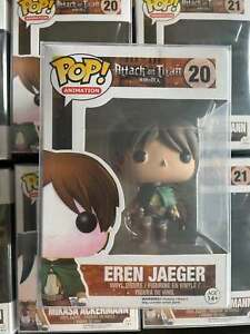 Funko Pop! Attack on Titan Eren Jaeger #20 Action Figure New In Box W/Protector
