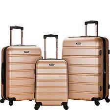 Rockland Luggage 3 Piece Melbourne Hardside Spinner Set Style F160 - Champange