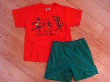 Boy's Lizard Shirt Shorts 3 4 Euc