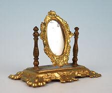 Antique Erhard & Sohne Ormolu Swinging Dressing Table Mirror Dollhouse Miniature