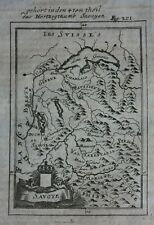 Original antique map, SAVOY, DUCHY OF SAVOY, LAKE GENEVA,  A.M. Mallet, c.1719