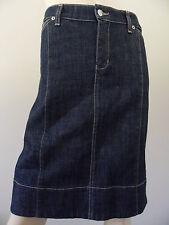 SATCH dark denim panel below knee skirt size 14 MADE IN AUSTRALIA BNWT