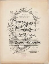 There's A Place in My Heart For You Still, 1892 antique sheet music