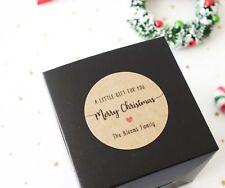 Personalised Christmas Kraft Stickers, XMAS Labels, Christmas Gift Tags