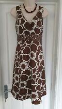Boden Cotton Brown/Cream Sundress Dress Size 12R