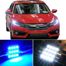 8 x Premium Blue LED Lights Interior Package Kit for Honda Civic 2013-2017 +Tool