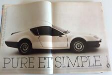 Publicité de Presse automobile Renault Alpine A310 V6 French press Ad 1982