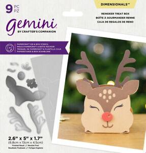 Gemini - Reindeer Treat Box by Crafters Companion FREE UK P&P