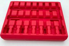 "8pc Mac Tools 3/8"" long allen socket driver storage tool box carry case inc VAT"
