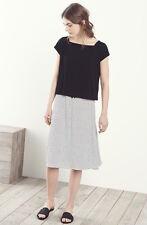 471680073e7 Eileen Fisher New Black   White Organic Linen Jersey Stripe Skirt 2X  218