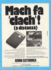QUATTROR982-PUBBLICITA'/ADVERTISING-1982- GEMINI ELETTRONICA
